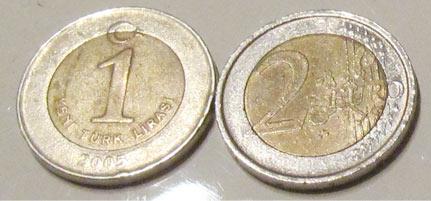 Türkische Lira sieht Euro zum Verwechseln ähnlich!