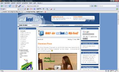 Screenshot: Ansicht im Firefox