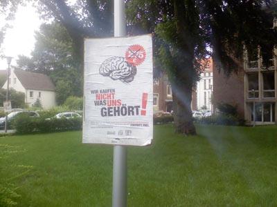 Wir kaufen nicht was uns gehört - Studiengebühren-Boykott an der Uni Münster